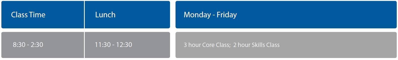 Cambridge timetable